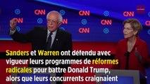 Primaires démocrates : Bernie Sanders et Elizabeth Warren vilipendés par les modérés