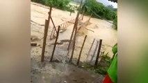 Overstroming vernietigt brug