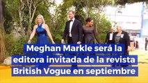 Meghan Markle será la editora invitada de la revista British Vogue en septiembre