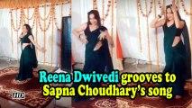 Reena Dwivedi grooves to Sapna Choudhary's song