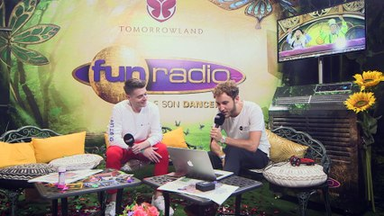 DEEPEND en interview sur Fun Radio à Tomorrowland 2019