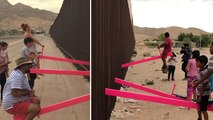 Seesaws At The Border Let Children In Mexico And The U.S. Play Together