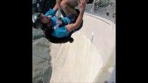 Il saute en base-jump du haut d'un barrage... Vertigineux