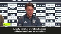 (Subtitled) 'Check your facts!' Kovac annoyed by Leon Bailey transfer rumours