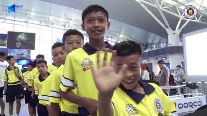 U12 Hà Nội háo hức tại sân bay khi lần đầu tham dự giải đấu quốc tế tại Trung Quốc   HANOI FC