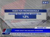 Taxpayers rush to make deadline for filing of income tax returns