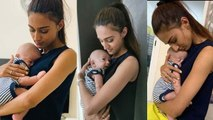 Kasautii Zindagii Kay: Erica Fernandes poses with CUTE baby; Check Out | FilmiBeat