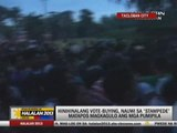 Alleged vote buying in Tacloban triggers stampede