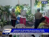 Remains of soldiers slain in Sulu to be brought home to their hometowns