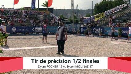 Europétanque des Alpes-Maritimes 2019 : Demi-finale Tir de précision ROCHER vs MOLINAS