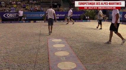 Europétanque des Alpes-Maritimes 2019 : Huitième Tyson MOLINAS vs Johan ERZURUMLUOGLU