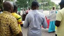 Bass Koma - la Libération du Mali continue à New York devant le siège des nations unies
