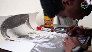 Portrait d'un dessinateur