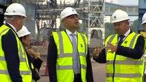 Sajid Javid and Priti Patel visit Tilbury Docks