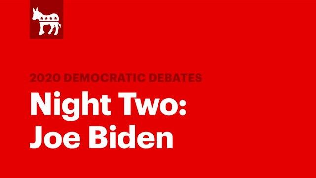 The Second Democratic Debate: Joe Biden | RS News 8/1/19