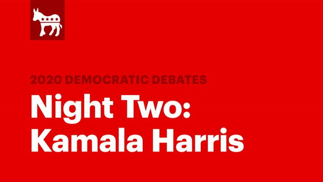 The Second Democratic Debate: Kamala Harris   RS News 8/1/19