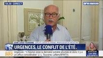"""Crise des urgences: """"Quand des malades restent des jours et des jours dans des services d'urgence, c'est que quelque chose ne fonctionne pas"""" selon Jean-Louis Touraine"""