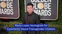 Mario Lopez Takes Back Transgender Comments