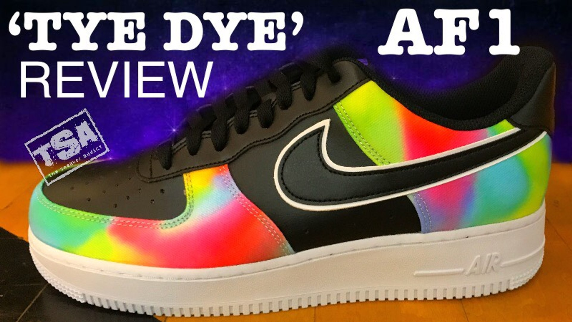 Nike Air Force 1 Low Black Tie Dye CK0840 001 Sneaker Detailed Review