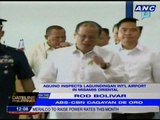 Aquino inspects Laguindingan International Airport in Misamis Oriental