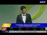 Djokovic hosts charity dinner after Wimbledon final