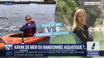 Les Matchs de l'été: Kayak de mer VS randonnée aquatique ?