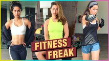 Hina Khan Giving FITNESS Goals To All Her Fans | Workout Video