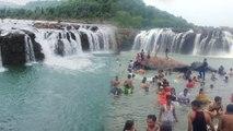 బొగత జలపాతానికి పోటెత్తుతున్న పర్యాటకులు || Bogatha Waterfalls Attracting Tourists In Rainy Season