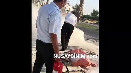 Nusaybin'de motosiklet yandı