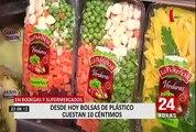 Ley de plásticos: desde este 1 de agosto bolsas de plástico cuestan 0.10 céntimos