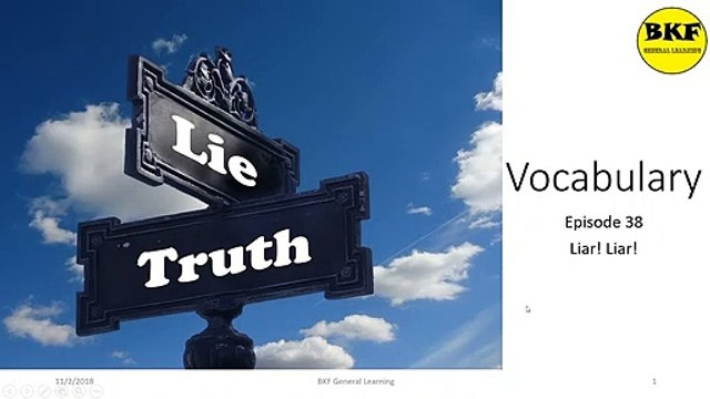 Vocabulary: Liar! Liar!
