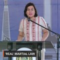 Sara Duterte: 'True martial law' is when military takes over courts, gov't