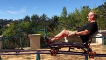 This dad built a two-story roller coaster in his backyard