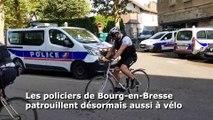 Les policiers de Bourg à vélo