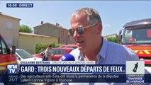 """Nouveaux départs de feux dans le Gard: pour le maire de Générac, """"l'urgence est de sauver des vies"""""""