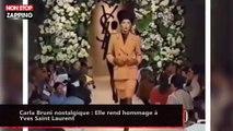 Carla Bruni nostalgique : Elle rend hommage à Yves Saint Laurent (vidéo)