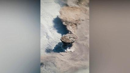 Impresionante vista de un volcán desde el espacio NASA muestra imágenes de la erupción