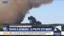 """Crash à Générac: selon un témoin, """"l'avion est ressorti de la fumée à très basse altitude"""" et a chuté """"d'un seul coup"""""""