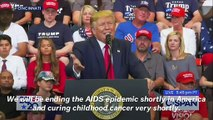 Trump Promises To Cure AIDS And Cancer, Blasts 'Rage-Filled Democrats' At Cincinnati Rally