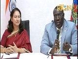 Haiti.- Accord de signature entre le Ministre des Affaires Etrangères et l'ambassadrice de l'Inde