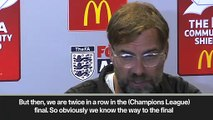 (Subtitled) 'Will we make the final again? Probably not' Klopp on Champions League