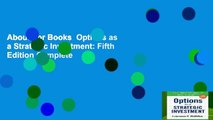 About For Books  Options as a Strategic Investment: Fifth Edition Complete