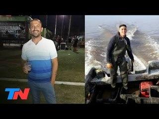 Desesperada búsqueda de dos pescadores desaparecidos en Punta Lara