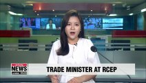 S. Korean trade minister raises issue of Japan's export curbs at RCEP meeting in Beijing
