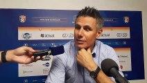 Olivier Frapolli coach du Stade Lavallois, au micro de France Bleu Mayenne, après la victoire contre Le Puy 43 (1-0, le 02/08/2019)