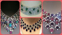 Beautiful stylish crystal and Diamond Necklace jewellery collection