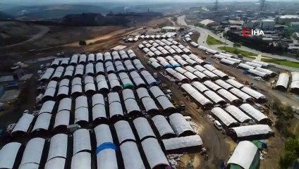 Sultangazi'deki Dev Kurban Alanı Havadan Görüntülendi