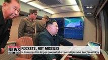 N. Korea says leader Kim Jong-un oversaw test of new multiple rocket launcher on Friday