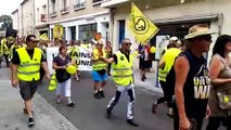 Une centaine de Gilets jaunes défilent dans les ruesde Toul