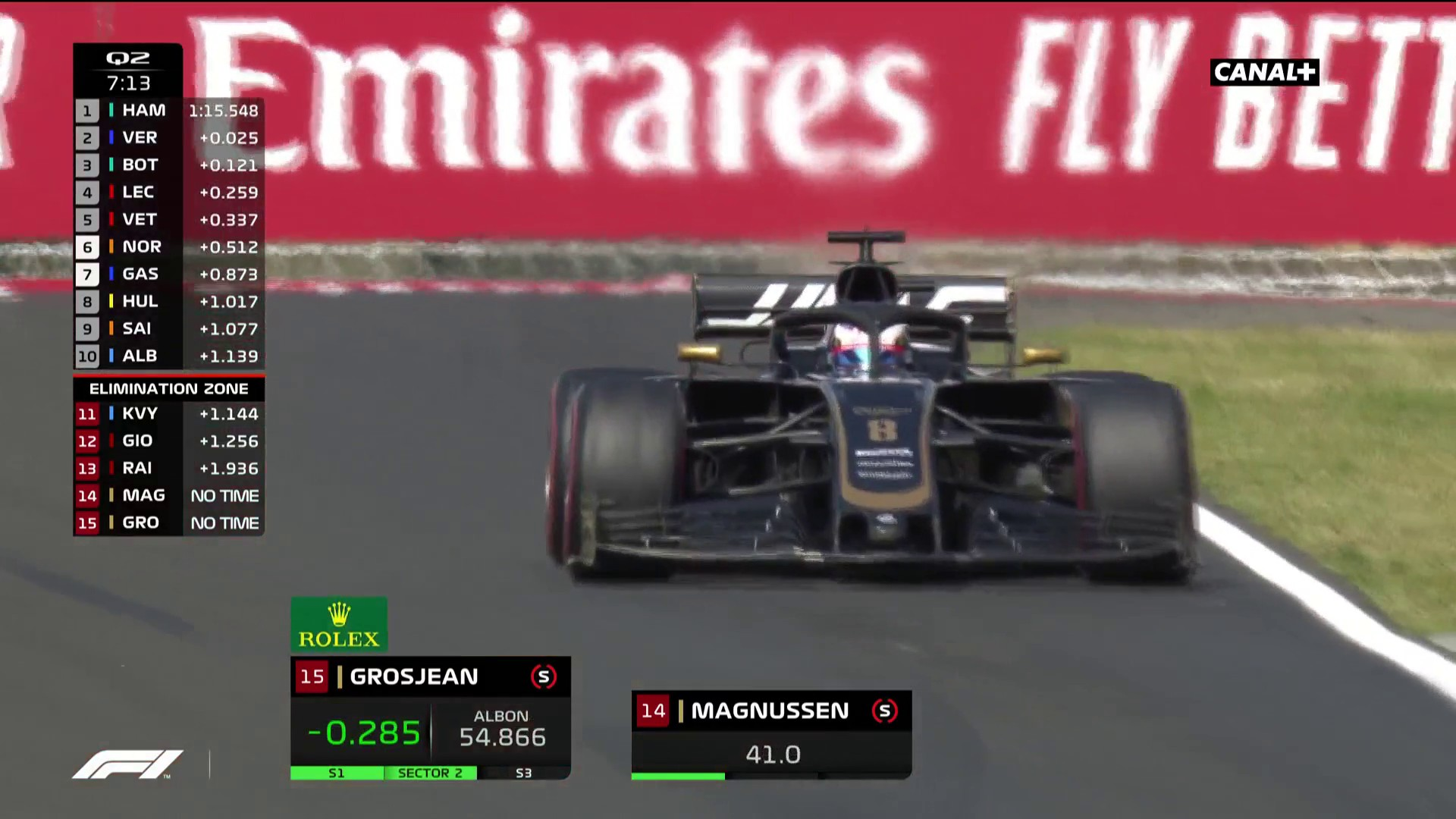 Belle performance de Grosjean en Q2